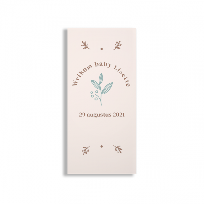Geboortekaartje Modern kaartje planten