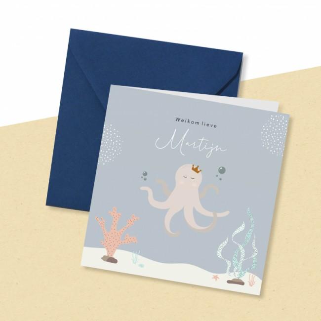Geboortekaartje Octopus onderwater
