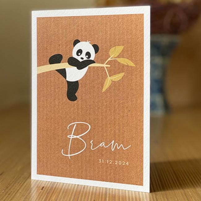 Geboortekaartje panda aan tak
