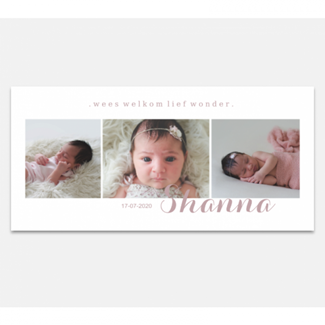 Geboortekaartje Panorama met foto