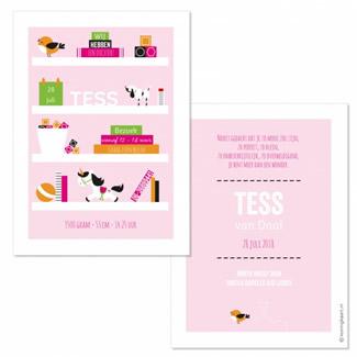 Geboortekaartje Planken meisje