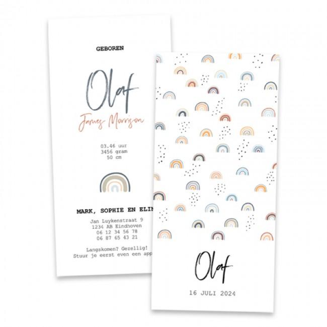 Geboortekaartje Regenboogjes