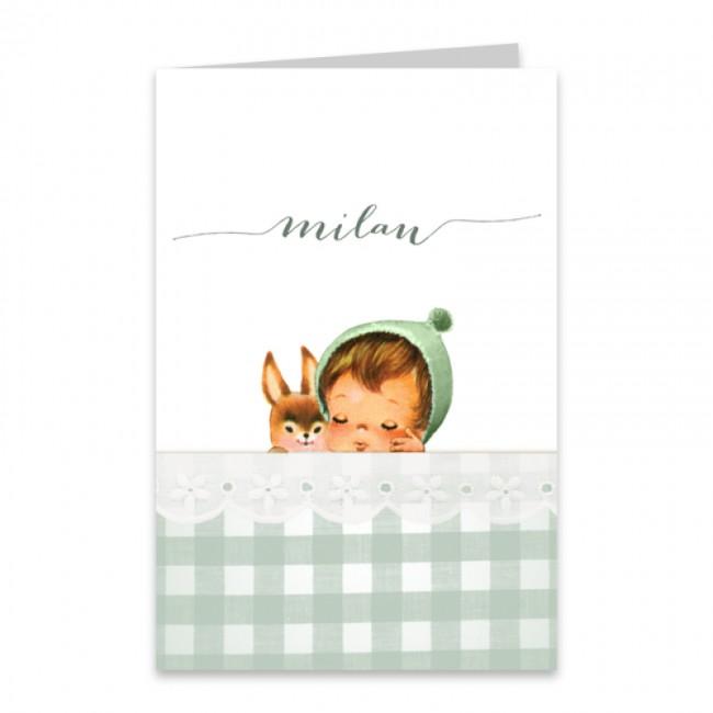 Geboortekaartje Retro geboortekaartje