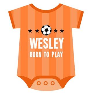 Geboortekaartje rompertje voetballer