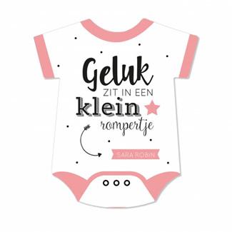 Geboortekaartje Roze rompertje