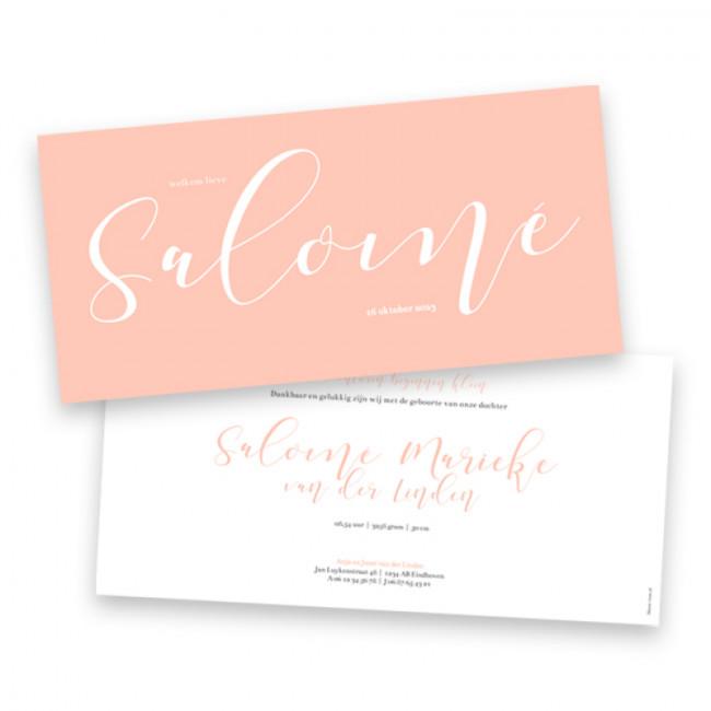 Geboortekaartje Salomé