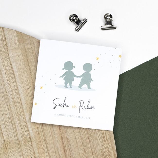 Geboortekaartje Silhouet