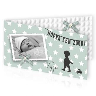 Geboortekaartje Silhouet en foto