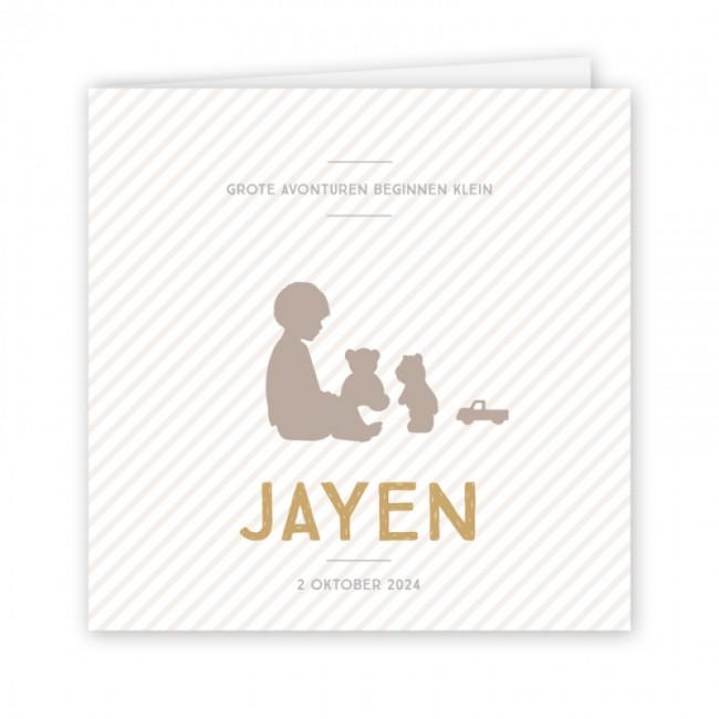 Geboortekaartje Silhouet jongen