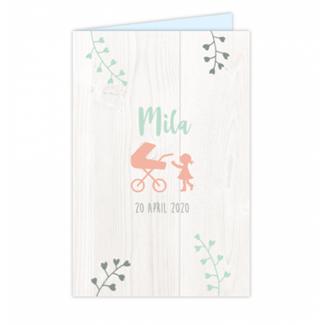 Geboortekaartje Silhouet kaartje