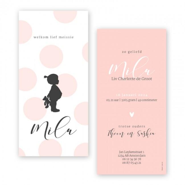 Geboortekaartje Silhouet meisje