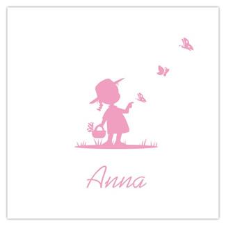 Geboortekaartje Meisje met vlinder