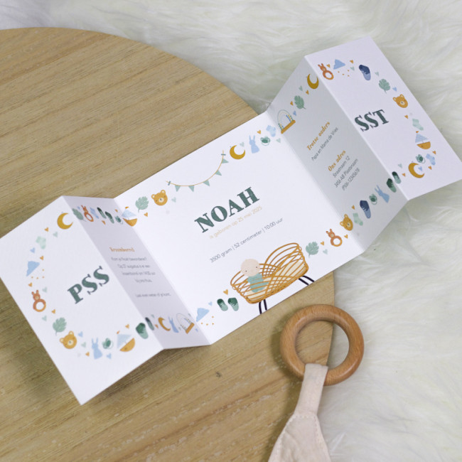 Geboortekaartje Speelgoed en wiegje