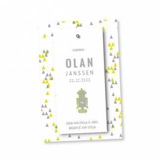 Geboortekaartje Splitpen label  Olan
