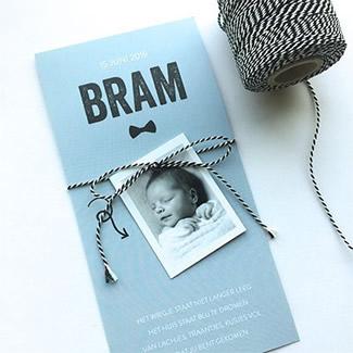 Geboortekaartje Strikje en label