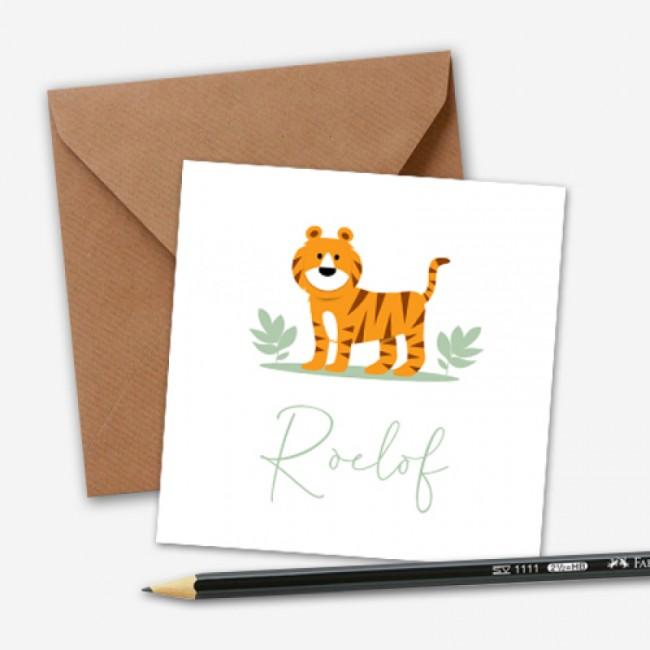 Geboortekaartje tijger