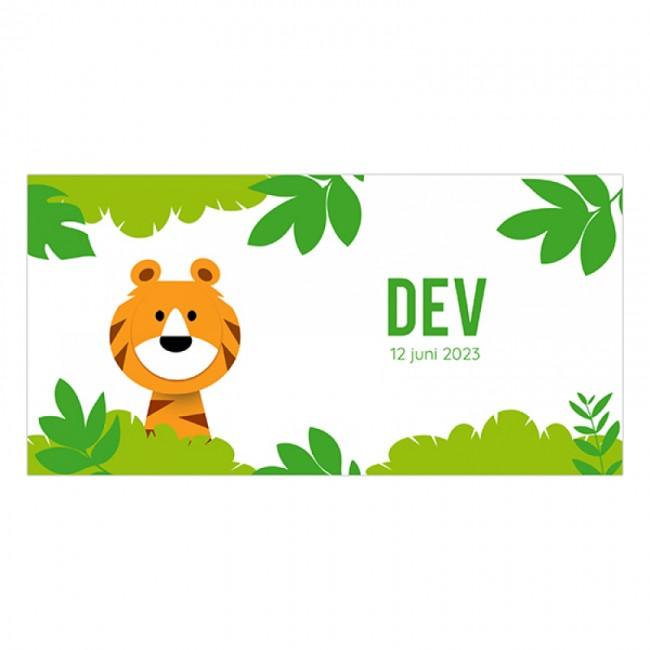 Geboortekaartje tijger in jungle