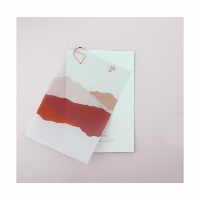 Geboortekaartje Transparant kaartje labels