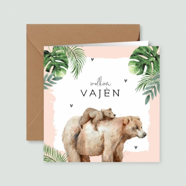 Geboortekaartje Tropische getekende beren