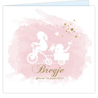 Geboortekaartje tweede kindje fiets