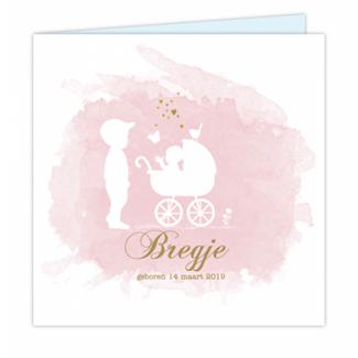 Geboortekaartje tweede kindje kaart