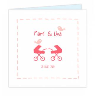 Geboortekaartje Tweeling kaartje