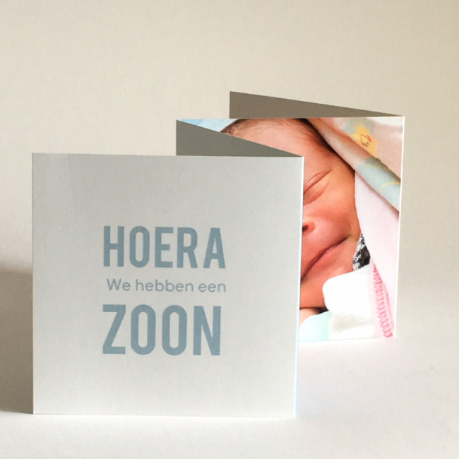 Geboortekaartje Vierluikje typografie