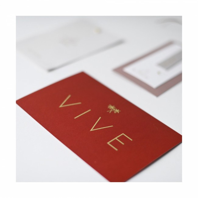 Geboortekaartje Vive goudfolie