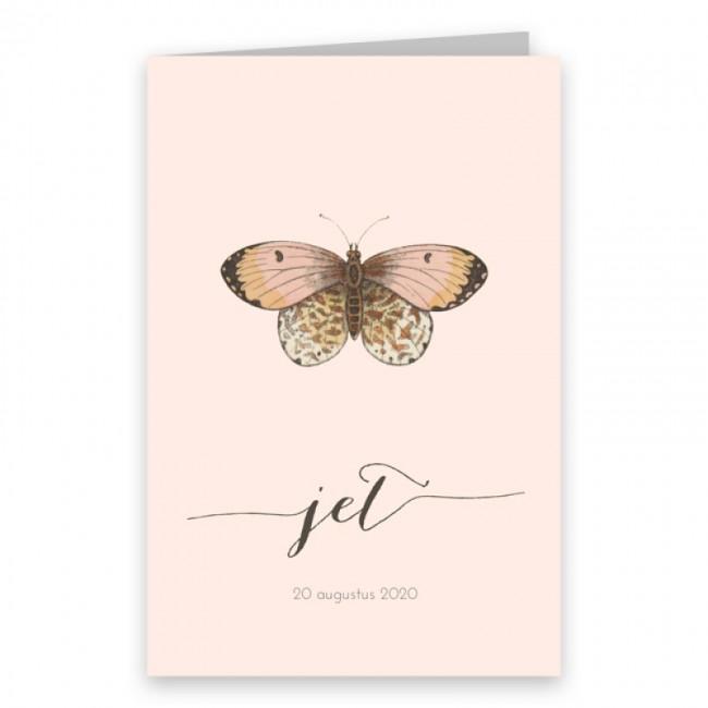Geboortekaartje Vlinder geboortekaartje