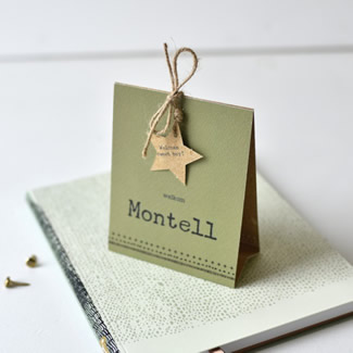 Geboortekaartje Vouwstans  |  Montell
