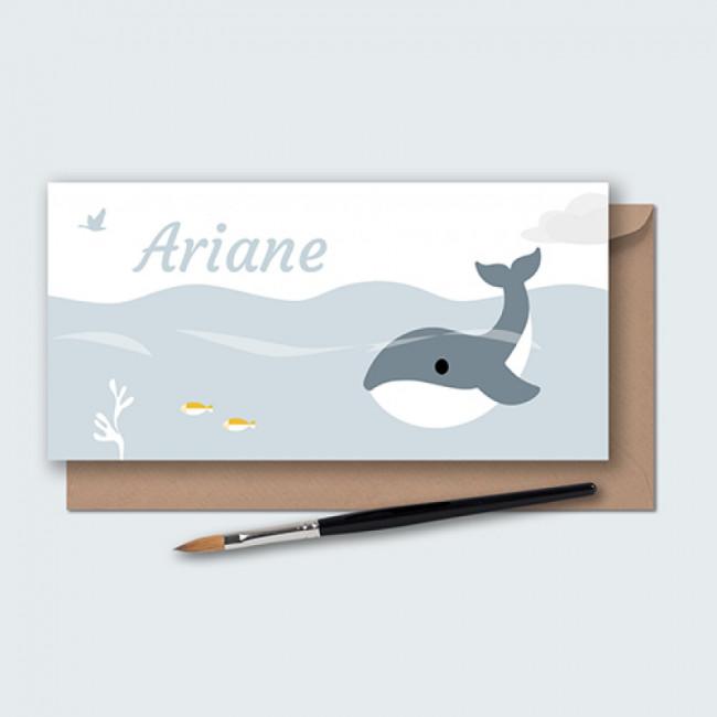 Geboortekaartje walvis in de oceaan