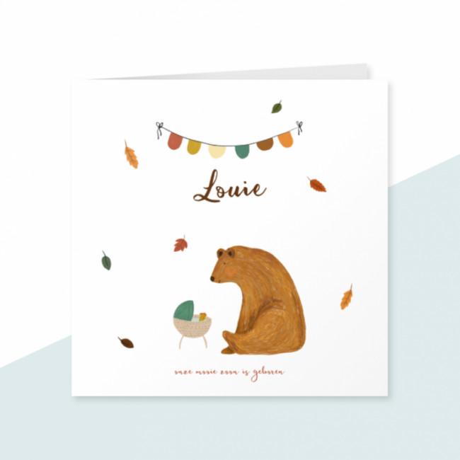 Geboortekaartje Wieg en beer