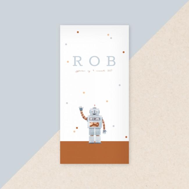Geboortekaartje Zwaaiende robot